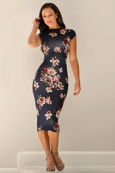 FREE SHIPPING OVER $50 & FREE RETURNS This short sleeve number is the softest and most comfortable dress,Bodycon silhouette shows off your curves as it reaches a chic, midi length and double lined. Av
