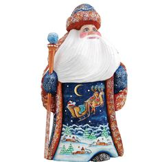Up UP and Away Santa Hand-carved and by GDeBrekhtGallery on Etsy