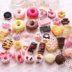 50pcs/lot Decoden Sweets Deco Resin Kawaii Cabochon Assortment Assorted Pack phone case decoration