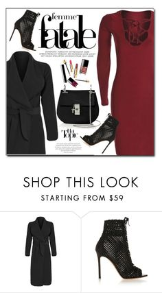 """Date Night"" by luvsassyselfie ❤ liked on Polyvore featuring Gianvito Rossi, Chloé, women's clothing, women's fashion, women, female, woman, misses, juniors and black"