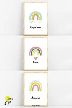 Nursery art prints from Sunny and Pretty. Colorful nursery wall art and prints for baby girl décor. Nursery prints to complete your décor project. Our printable wall art is made with love and is designed to reflect your décor style, encourage your little one's imagination and create heartwarming memories.🖤 Get excited about decorating for your little one! #sunnyandpretty #rainbownurseryprint #rainbownurserywallart Rainbow Nursery Decor, Diy Nursery Decor, Baby Room Decor, Nursery Themes, Rainbow Wall, Rainbow Print, Rainbow Room Kids, Nursery Artwork, Nursery Prints