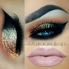 Copper Glittery Cat eye