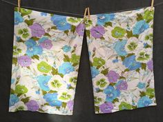 60's Pansies and Blueberry Print Pillowcases by ElkHugsVintage on Etsy