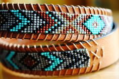 DIY instructions on how to make a unique, beaded native American belt with classic eagle motif.