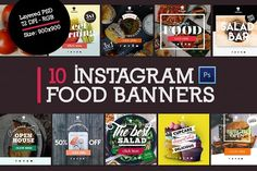10 Instagram Food Banners by VPB on @creativemarket