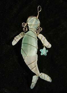 Sea Glass Mermaid Suncatcher by oceansbounty on Etsy, $18.00