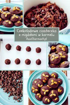 http://aniastarmach.pl/przepis/czekoladowe-ciasteczka-z-migdalami-w-karmelu/