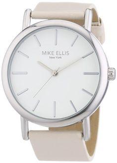 Mike Ellis New York Damen-Armbanduhr Analog Quarz Kunstleder L2979/1 - http://uhr.haus/mike-ellis-new-york/mike-ellis-new-york-damen-armbanduhr-analog-quarz