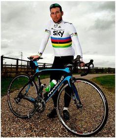 Mark Cavendish - in his Ex Sky Team Rainbow Strip
