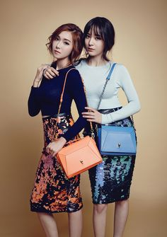 Jessica Jung and f(x)'s Krystal for Lapalette Spring 2015 Ad Campaign