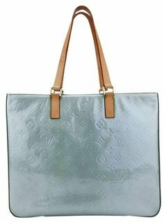 a88ae663220a Louis Vuitton Columbus Monogram Vernis Sage  Green Silver Patent Leather  Tote
