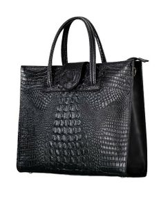 Alligator Grain Real Leather Tote - Bags - Bags & Accessories