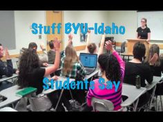 Stuff BYU-I students say.  Every single thing in this video is seriously something that my friends and/or I have heard since coming to BYU-Idaho.