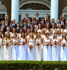 White dresses for women and blue blazers for men have been the traditional graduation attire for Sewickley Academy graduates for over 100 years.