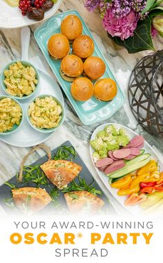 If you're throwing an easygoing at-home Oscar® party, the food should reflect that simple approach. By laying out an informal spread of comfort foods that guests can grab and enjoy at their leisure, you'll help foster a fun and relaxed environment—perfect for a night gathered around the movie stars with good friends. Find all the serveware to let your food take center stage at Kohl's. #AllTheGoodStuff