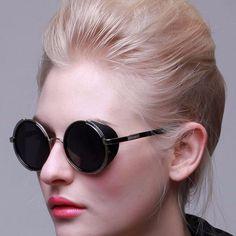 Unisex 'Heritage' Round Circle Side Shield Vintage Retro Sunglasses As – ASTROSHADEZ.COM