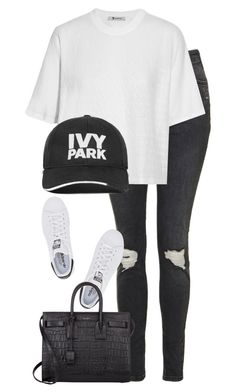 """Untitled #2757"" by elenaday ❤ liked on Polyvore featuring Topshop, T By Alexander Wang, Ivy Park, adidas Originals and Yves Saint Laurent"