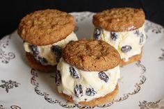 Anzac Biscuit and rum and raisin icecream sandwiches – Recipes – Bite
