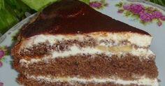 Самый вкусный шоколадно-орехово-банановый торт