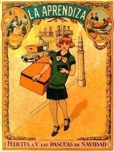 Antiguas felicitaciones navideñas - Profesiones y oficios. Vintage Labels, Vintage Ephemera, Vintage Postcards, Vintage Ads, Vintage Antiques, Old Signs, Advertising Poster, Magazine Art, Vintage Advertisements