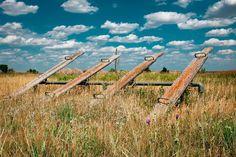 Abandoned playground in rural North Dakota