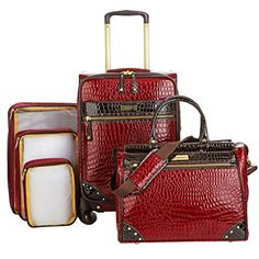 Samantha Brown 5piece Classic Luggage Set  Burgundy -- For more information, visit image link.