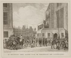 King William I walks in procession from the Royal Palace Amsterdam to the Nieuwe Kerk on 29 and 30 March 1814