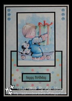 Delphinoid's Cards and Craft: Birthday Card - Adam on Skateboard