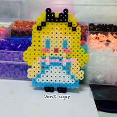 Alice in Wonderland hama beads by pompom_pastel