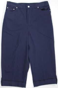Alfred Dunner Jean Pool Zip Up Button Fly Capri Indigo 22W Alfred Dunner. $31.99