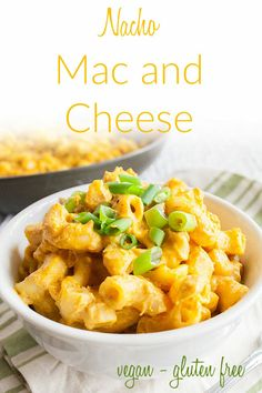 Nacho Mac and Cheese (vegan, gluten free) – This simple nut free vegan mac and cheese is rich, creamy, and spicy. Made on the stovetop, it is an easy meal. The nacho cheese sauce can be used on nachos and veggie burgers as well. Silken Tofu Recipes, Best Tofu Recipes, Vegan Lunch Recipes, Vegan Dinners, Veggie Recipes, Nacho Cheese Sauce, Vegan Cheese Sauce, Easy Vegan Mac And Cheese Recipe, Nachos