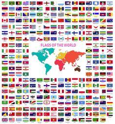 las banderas del mundo geografia pinterest printables student centered resources and. Black Bedroom Furniture Sets. Home Design Ideas