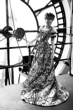 Tempus Fugit. Keep making art.    Replica House of Worth 1898 ironwork gown made and worn by Cynthia Settje of Redthreaded  https://redthreaded.com/blogs/redthreaded/tagged/worth-gown