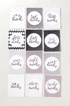 Baby Milestone Cards Bright Luster Keepsakes & Baby Announcements Baby