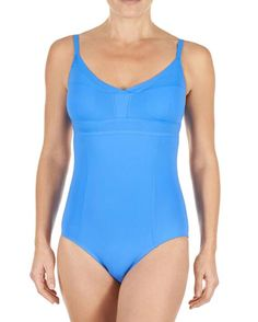 7694c12a08 Cutout Back One Piece Bathing Suit  A cutout low back creates chic  silhouette in your poolside style in this one piece bathing suit form  Letarte.