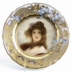 170A: Royal Vienna hand-painted portrait plate : Lot 170A