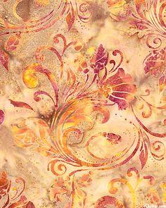 Flower blossom swirl batik