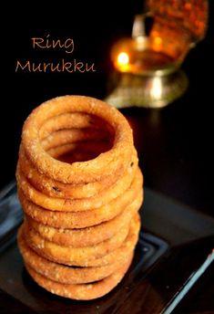 Manju's Eating Delights: Ring Murukku Diwali Snacks, Onion Rings, Eat, Breakfast, Ethnic Recipes, Food, Morning Coffee, Essen, Meals