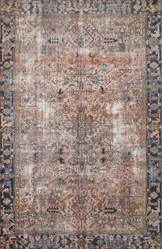 Chris Loves Julia x Loloi Jules JUL-02 Vintage Overdyed Area Rugs | Rugs Direct