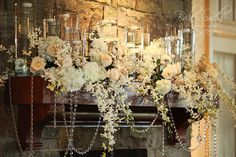 Would love to do this on the fireplace mantle Place for Flowers