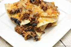 Looking for quick and easy dinner ideas? Try our easy nacho bake recipe! It's a family favorite!