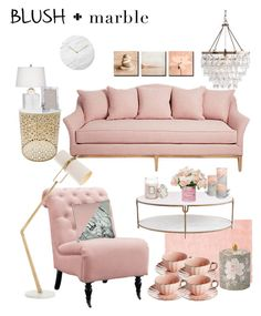 """Blush Marble"" by ysendjaja on Polyvore featuring interior, interiors, interior design, home, home decor, interior decorating, Home Decorators Collection, Global Views, Voluspa and Menu"