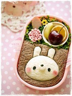 Kawaii bunny rabbit sandwich