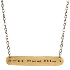 Morse Code necklace - custom personalized jewelry