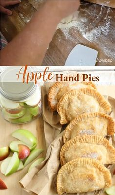 These Fried Apple Hand Pies are made with homemade apple pie filling, pie crust or refrigerated biscuit dough. Make these apple pies the day before and refrigerate overnight or freeze for later. Homemade Apple Pie Filling, Homemade Pie Crusts, Pie Crust Recipes, Tart Recipes, Snack Recipes, Snacks, Apple Hand Pies, Fried Apples, Thanksgiving Desserts