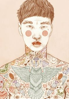 The Illustration of Liz Clements   Ink Butter™   Tattoo Aftercare #illustration #painting #drawing #inspiration