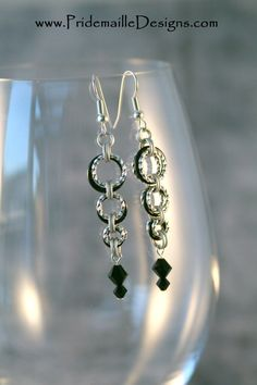 Twisted Ring Drop Earrings  Chainmaille by PridemailleDesigns, $10.00