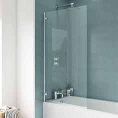 Newark Hinged Square Bath Screen | Available At Victorian Plumbing ™ Shower Bath, Bath Screens, Shower Screen, Belfry Bathroom, Bath Shower Screens, Heating And Plumbing, Bath, Diy Plumbing, Bathroom Fixtures