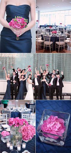 Finalmente Noiva: Inspirações: Azul Marinho e Rosa