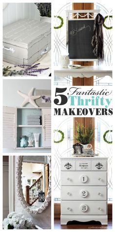 Be inspired to turn other's trash into amazing treasures for your home with these 5 thrifty makeovers by Christy, blogger at Confessions of a Serial Do-it-Yourselfer!